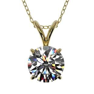1.07 ctw Certified Quality Diamond Necklace 10k Yellow