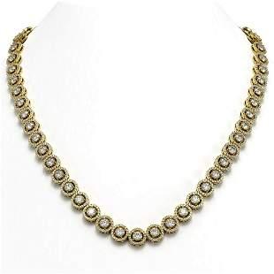 23.95 ctw Diamond Micro Pave Necklace 18K Yellow Gold -