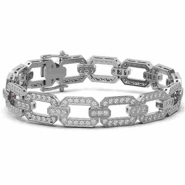 8 ctw Diamond Designer Bracelet 18K White Gold -