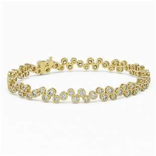 8 ctw Diamond Designer Bracelet 18K Yellow Gold -