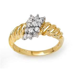 0.25 ctw Certified VS/SI Diamond Ring 10k Yellow Gold -