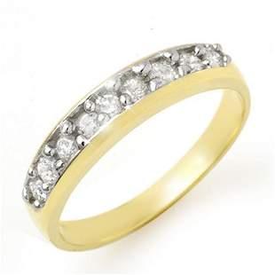 0.33 ctw Certified VS/SI Diamond Ring 10k Yellow Gold -