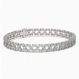 13 ctw Diamond Designer Bracelet 18K White Gold -