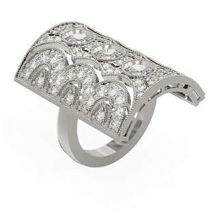 4.25 ctw Diamond Ring 18K White Gold - REF-518M9G