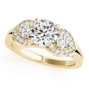 1.45 ctw VS/SI Diamond 3 Stone Ring 18k Yellow Gold -
