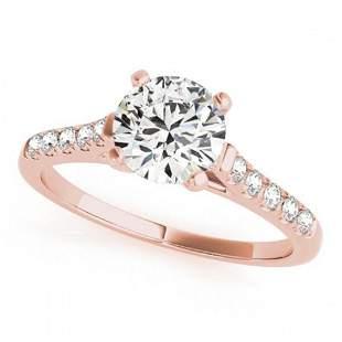 0.97 ctw Certified VS/SI Diamond Ring 18k Rose Gold -