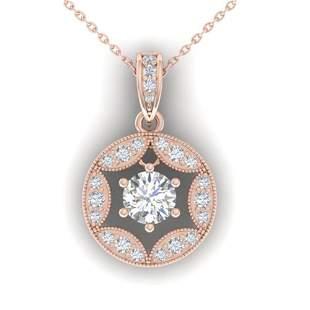1.5 ctw VS/SI Diamond Art Deco Stud Necklace 14k Rose