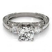 1.63 ctw Certified VS/SI Diamond Antique Ring 18k White