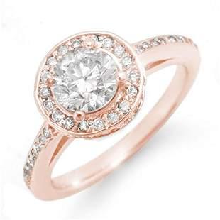 1.75 ctw Certified VS/SI Diamond Ring 14k Rose Gold -