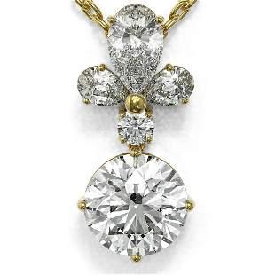 1.4 ctw Diamond Designer Necklace 18K Yellow Gold -