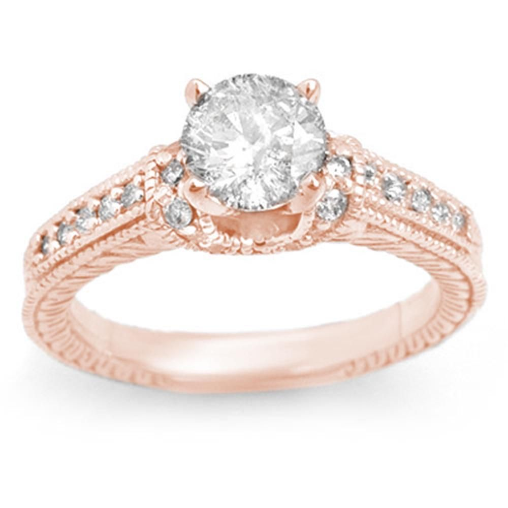 1.50 ctw Certified VS/SI Diamond Ring 14k Rose Gold -