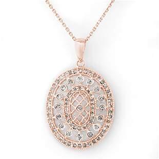 0.75 ctw Certified VS/SI Diamond Necklace 14k Yellow