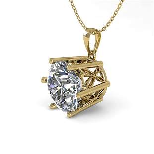 1 ctw VS/SI Diamond Solitaire Necklace 18k Yellow Gold
