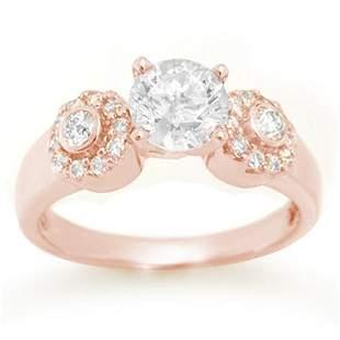 1.38 ctw Certified VS/SI Diamond Ring 14k Rose Gold -