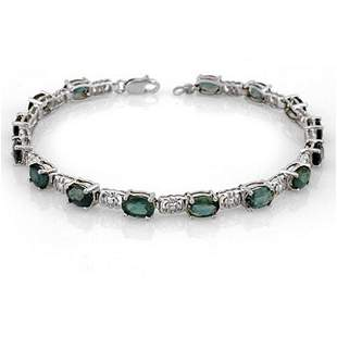 11.0 ctw Blue Sapphire Bracelet 18k White Gold -