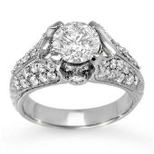 2.20 ctw Certified VS/SI Diamond Ring 14k White Gold -