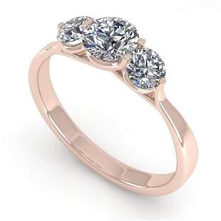 1 ctw Past Present Future VS/SI Diamond Ring Martini
