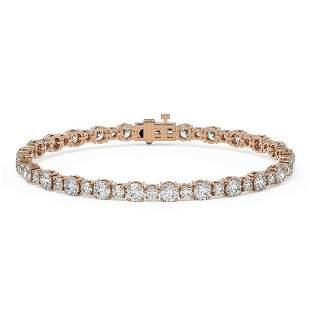 9 ctw Diamond Designer Bracelet 18K Rose Gold -