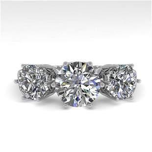 2 ctw Past Present Future VS/SI Diamond Ring 18k White