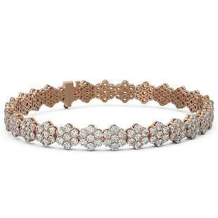 14 ctw Diamond Designer Bracelet 18K Rose Gold -