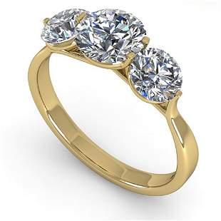 2 ctw Past Present Future VS/SI Diamond Ring Martini