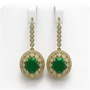 17.22 ctw Certified Emerald & Diamond Victorian
