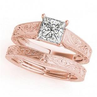 0.75 ctw VS/SI Princess Diamond 2pc Wedding Set 14k