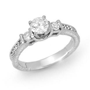 0.90 ctw Certified VS/SI Diamond Solitaire Ring 18k