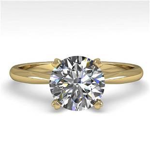 1.50 ctw VS/SI Diamond Engagment Designer Ring 18k