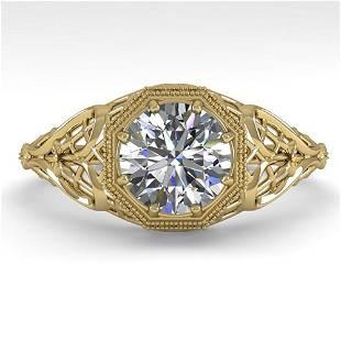 1.01 ctw VS/SI Diamond Engagment Ring Art Deco 18k