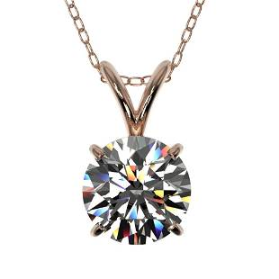 1.07 ctw Certified Quality Diamond Necklace 10k Rose