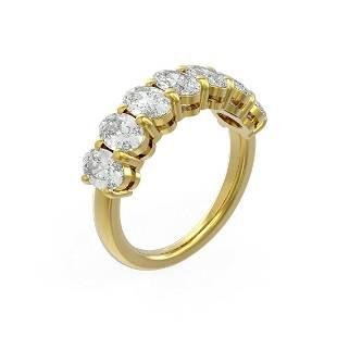 3.64 ctw Oval Diamond Ring 18K Yellow Gold - REF-580F2M