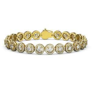 10.39 ctw Diamond Micro Pave Bracelet 18K Yellow Gold -