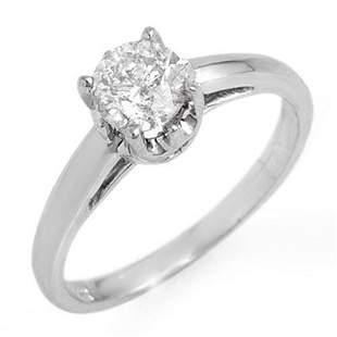 0.80 ctw Certified VS/SI Diamond Solitaire Ring 14k