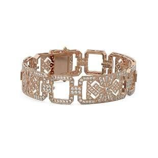 8 ctw Diamond Designer Bracelet 18K Rose Gold -