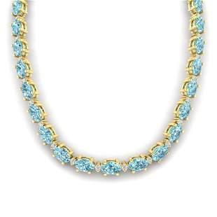 46.5 ctw Sky Blue Topaz & VS/SI Diamond Eternity