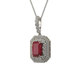7.18 ctw Certified Ruby & Diamond Victorian Necklace
