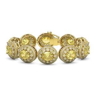 40.37 ctw Canary Citrine & Diamond Victorian Bracelet