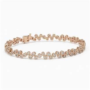 5 ctw Diamond Designer Bracelet 18K Rose Gold -