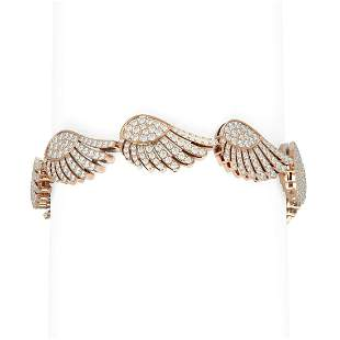 8.41 ctw Diamond Bracelet 18K Rose Gold - REF-641G2W