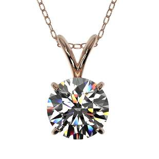 1.03 ctw Certified Quality Diamond Necklace 10k Rose
