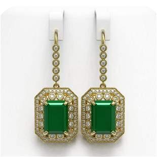 23.79 ctw Certified Emerald & Diamond Victorian