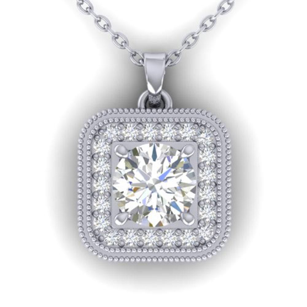 1.32 ctw VS/SI Diamond Art Deco Micro Necklace 14k