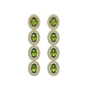 5.88 ctw Tourmaline & Diamond Micro Pave Halo Earrings