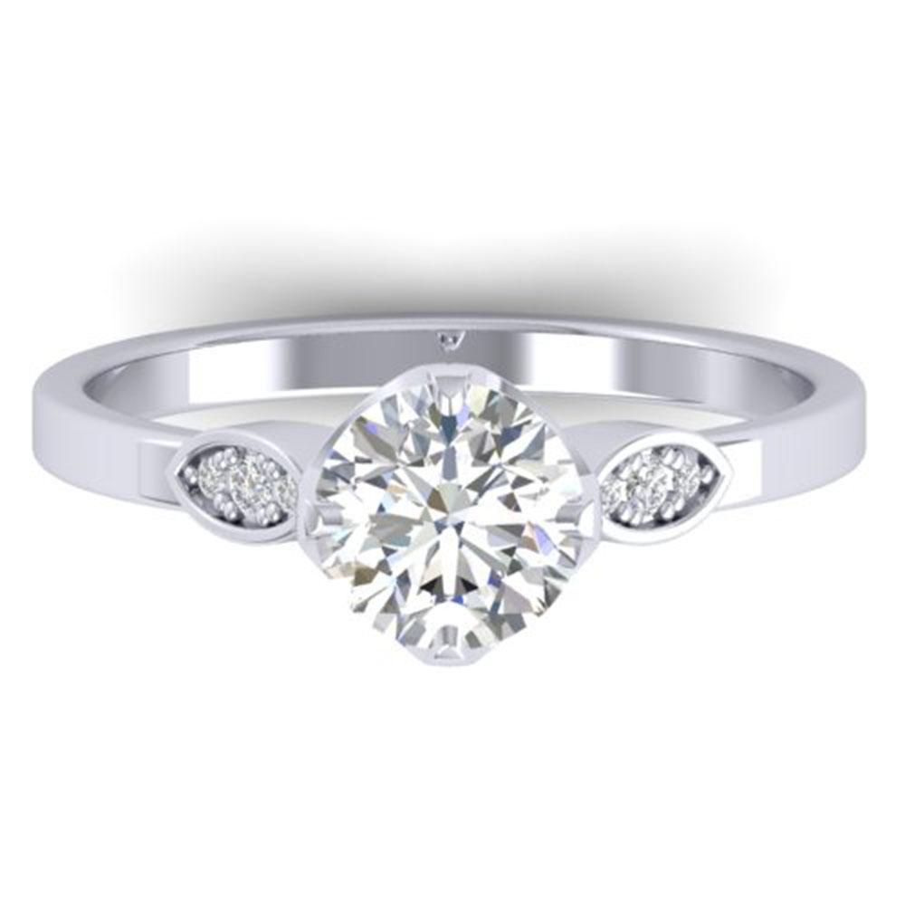 1.05 ctw Certified VS/SI Diamond Art Deco Ring 14k
