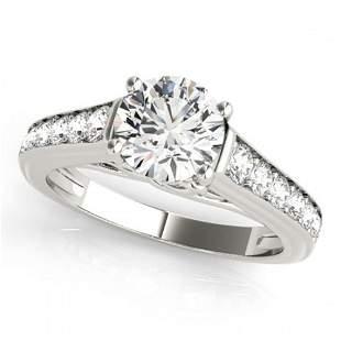 1.5 ctw Certified VS/SI Diamond Ring 18k White Gold -