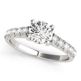 2.1 ctw Certified VS/SI Diamond Ring 18k White Gold -