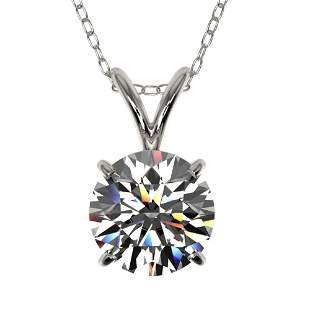 1.29 ctw Certified Quality Diamond Necklace 10k White