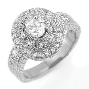 1.33 ctw Certified VS/SI Diamond Ring 18k White Gold -