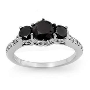 1.95 ctw VS Certified Black & White Diamond Ring 14k